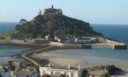 St Michael's Mount with the tide out